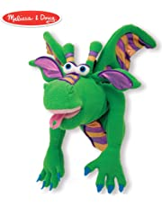 Melissa & Doug Smoulder The Dragon Puppet with Detachable Wooden Rod (Puppets & Puppet Theaters, Animated Gestures, Inspires Creativity, 38.1 cm H x 12.7 cm W x 16.51 cm L)