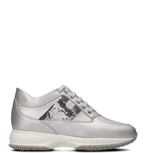 Hogan - Zapatillas para Mujer Plateado Plata IT - Marke Größe, Color Plateado, Talla 39 IT - Marke Größe 39: Amazon.es: Zapatos y complementos