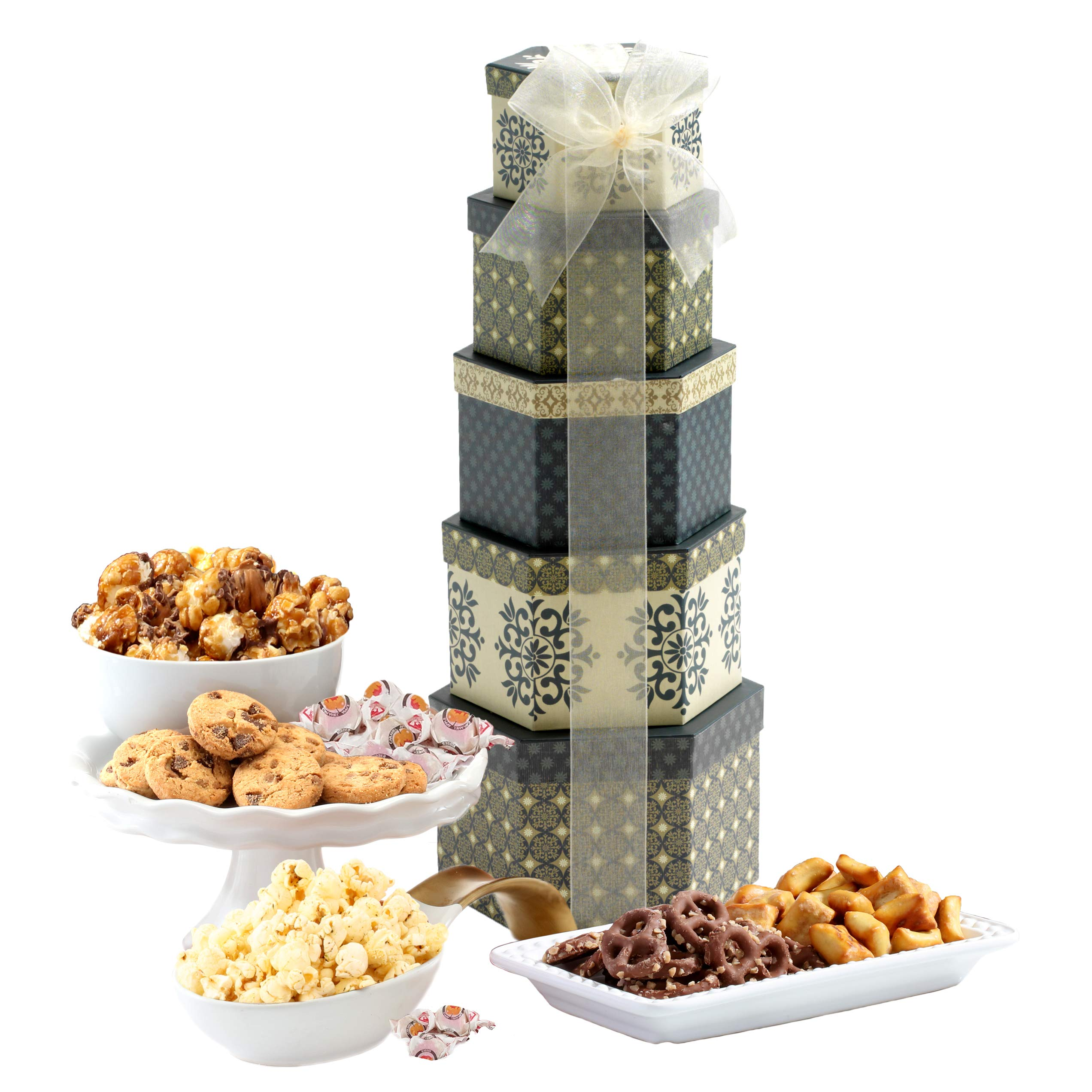 Amazon.com : Broadway Basketeers Gift Tower of Sweets. Perfect for ...