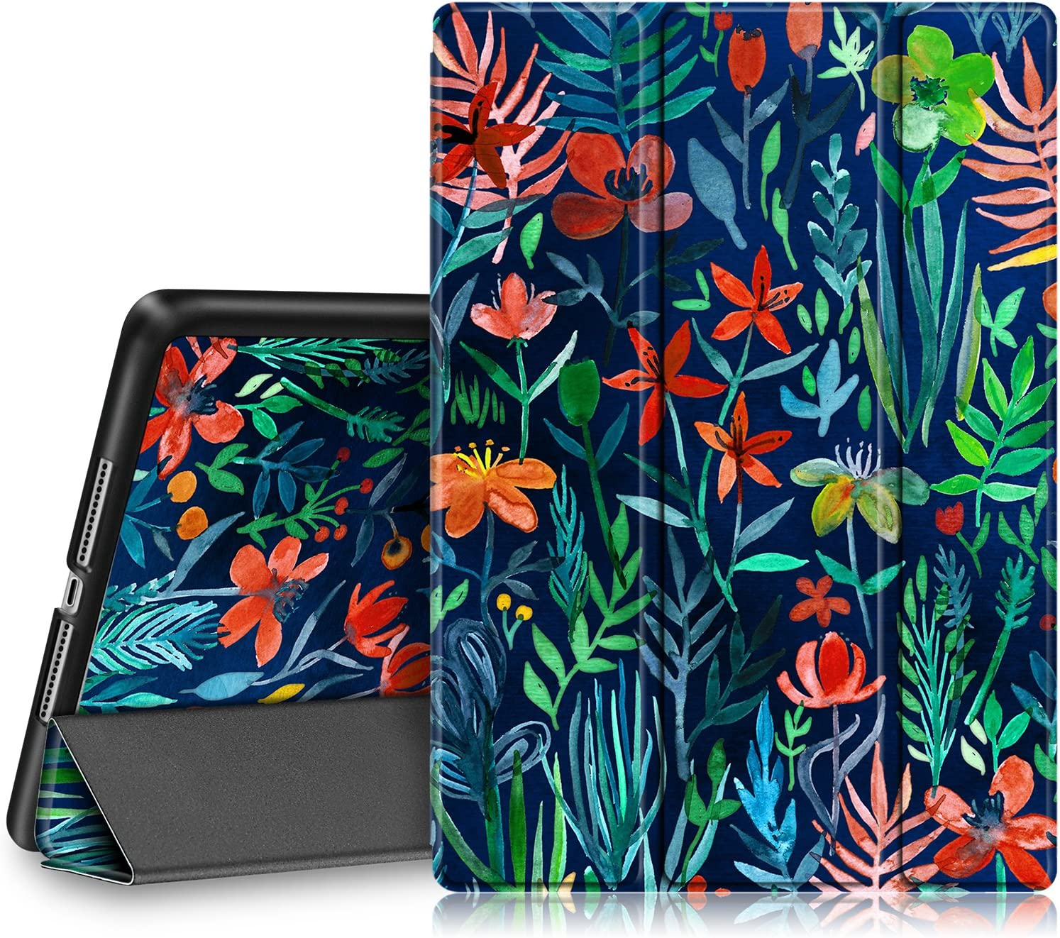 Fintie Case for iPad 9.7 2018/2017 - Lightweight Slim Shell Standing Cover with Auto Wake/Sleep Feature for iPad 6th / 5th Gen 9.7 Inch Tablet, Jungle Night