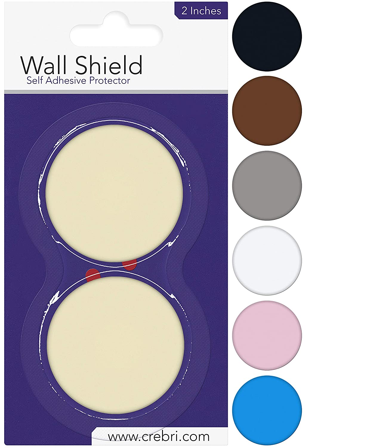 Silicone Wall Protectors from Door knobs Ivory - Self Adhesive Round Plate - Door Bumper Pads Ivory - Rubber Door Handle Bumper Guard for Door Knob, Kitchen, Office White (2inch, Beige/Ivory)