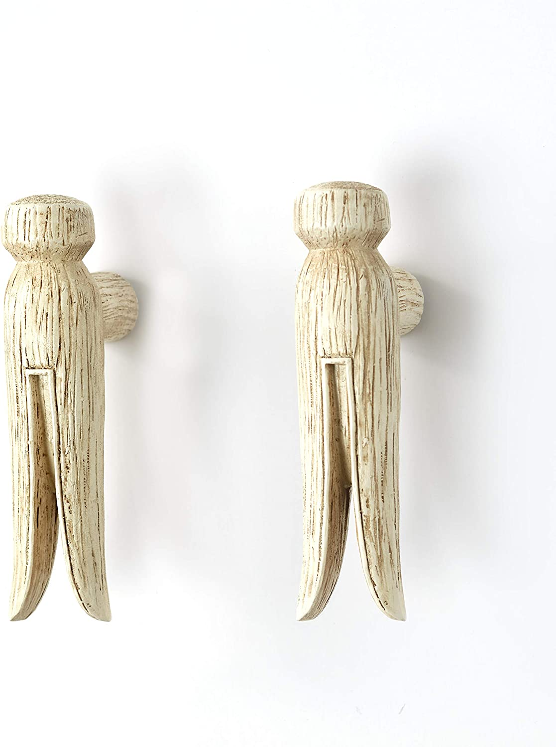 Vintage Clothes Pin Cabinet Door Pulls - Laundry Room Decor - Set of 2