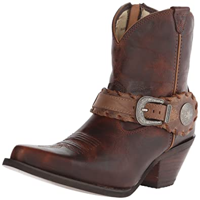 Durango Women's Crush 7-Inch Spur Strap Demi Western Brown 6.5 M
