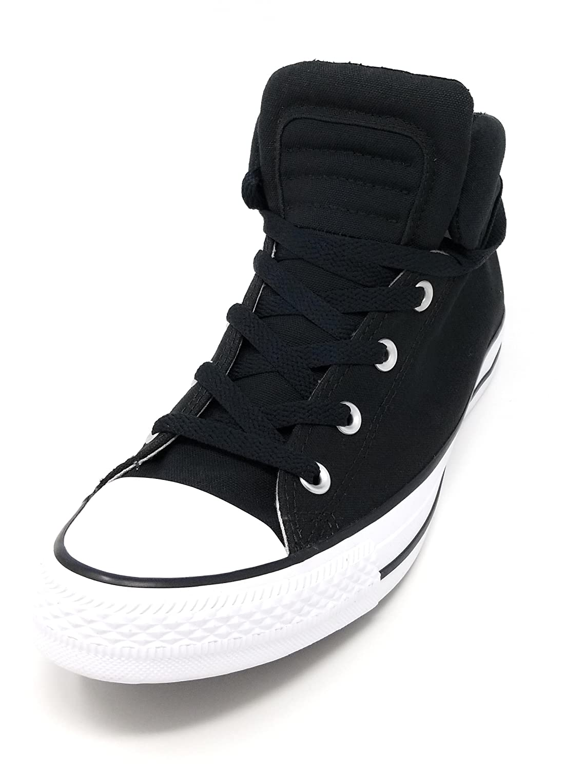 Amazon.com | Converse CTAS Chuck Taylor All Star Brookline Mid Black/Black/White | Fashion Sneakers