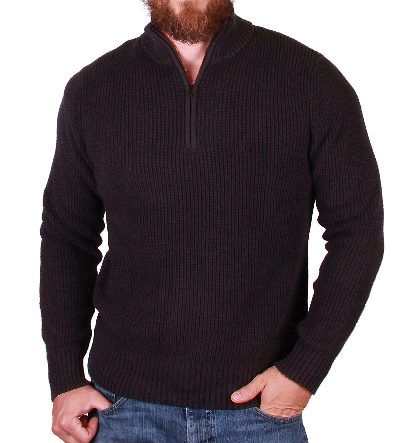 Calvin Klein Quarter Zip Long Sleeve Knit Sweater for Men at ...