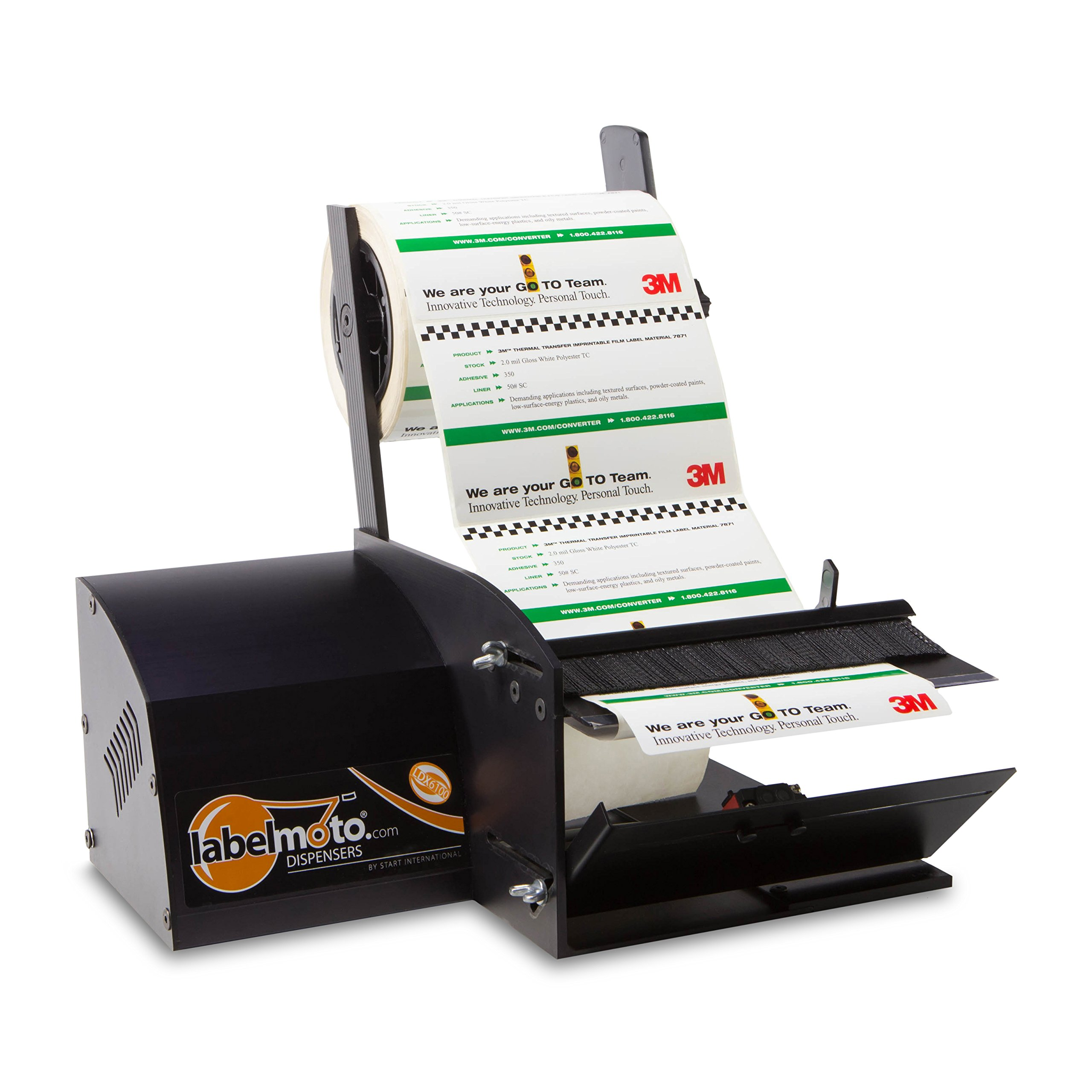START International LDX6100 Super Speed Electric Label Dispenser for Up to 7'' (178 mm) Wide Labels, Black