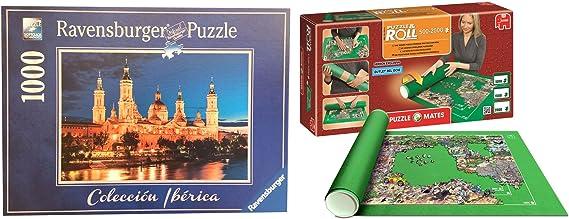 Outletdelocio. Pack Puzzle Ravensburger 88585. Basilica del Pilar. Zaragoza. 1000 Piezas + Tapete Universal Puzzle Roll 2000 Piezas: Amazon.es: Juguetes y juegos