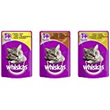 Whiskas Wet Cat Food Pouch for 1+ Adult, Mixed Selection in Gravy - 84 x 100 g Pouch