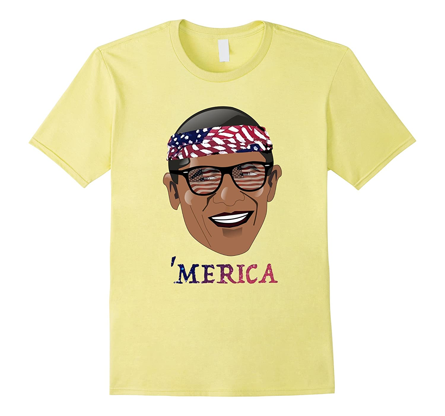 'Merica Barack Obama Patriotic T-Shirt (5 Color Options)