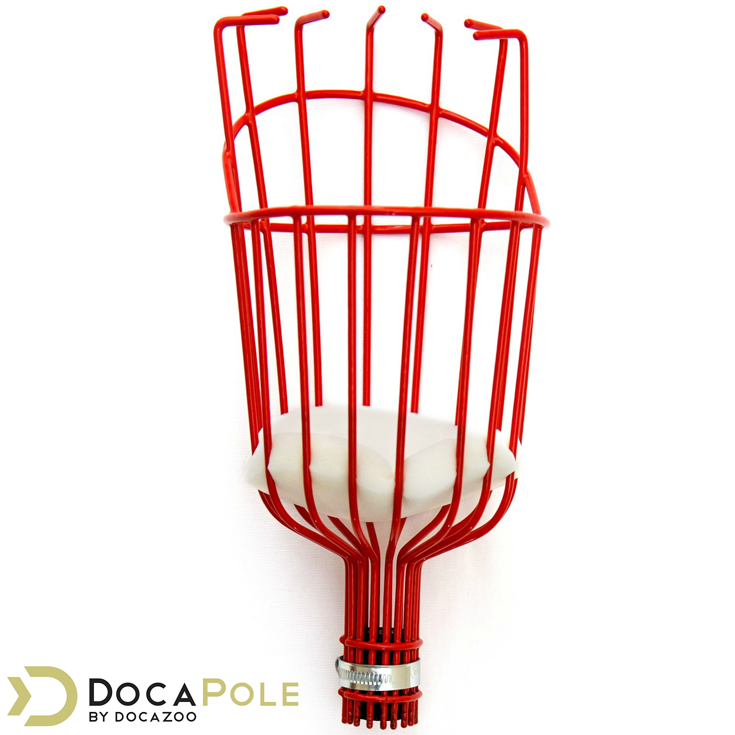 DOCAZOO DocaPole Fruit Picker - Twist-On Fruit Picker Tool for an Extension Pole or Telescopic Pole // Fruit Picker Pole // Ideal for Apple Picking, Avocados, and Other Fruit // DocaPole Attachment by DOCAZOO