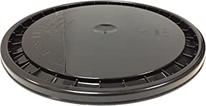ENCORE PLASTICS 53000B RG204 Snap-On Paint Pail Lid, Polyethylene, 5 gal, Black