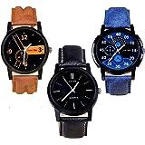 just like Quartz Movement Analogue Multicolour Dial Men's Watch - 444123(Pack of 3)