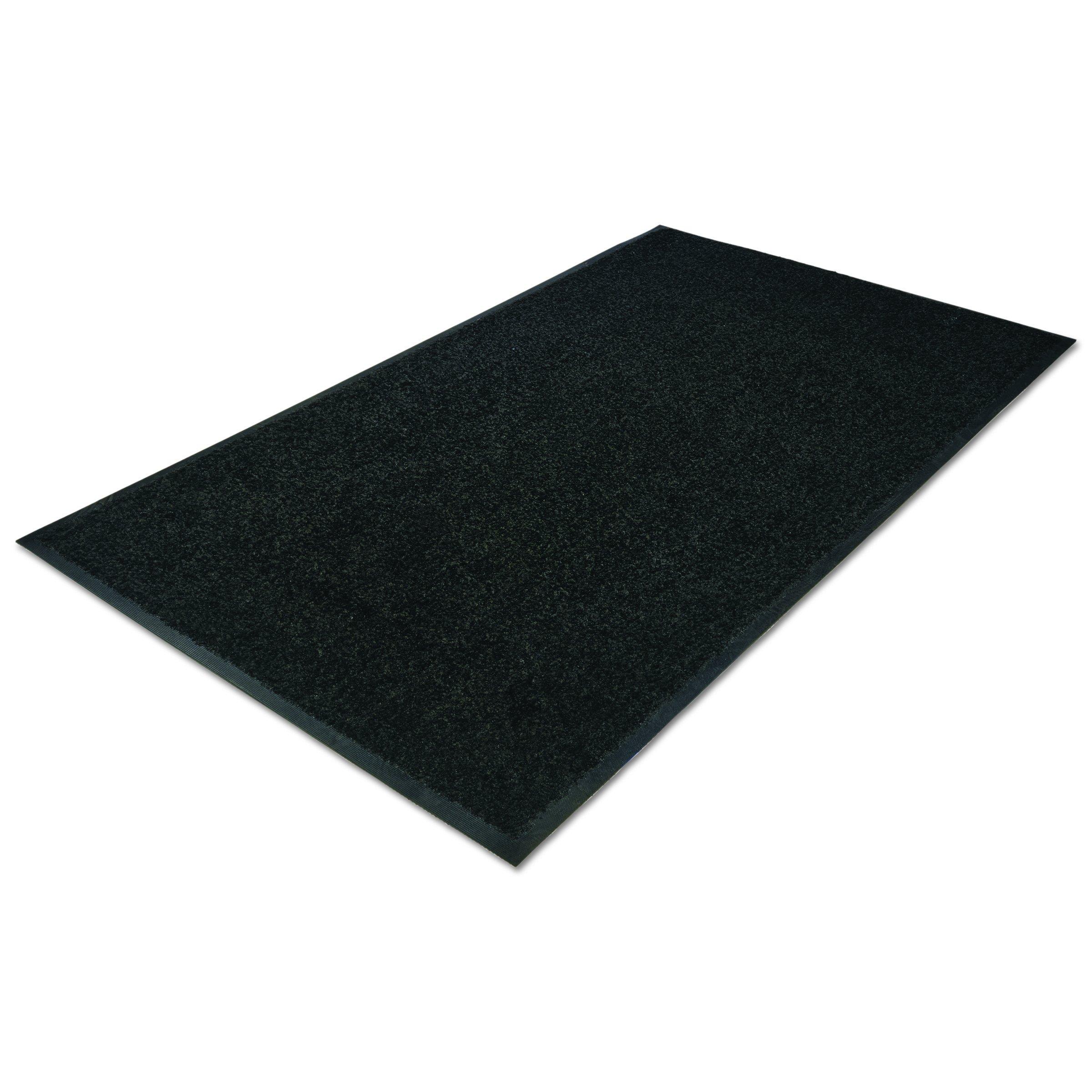Guardian Platinum Series Indoor Wiper Floor Mat, Rubber with Nylon Carpet, 4'x6', Black