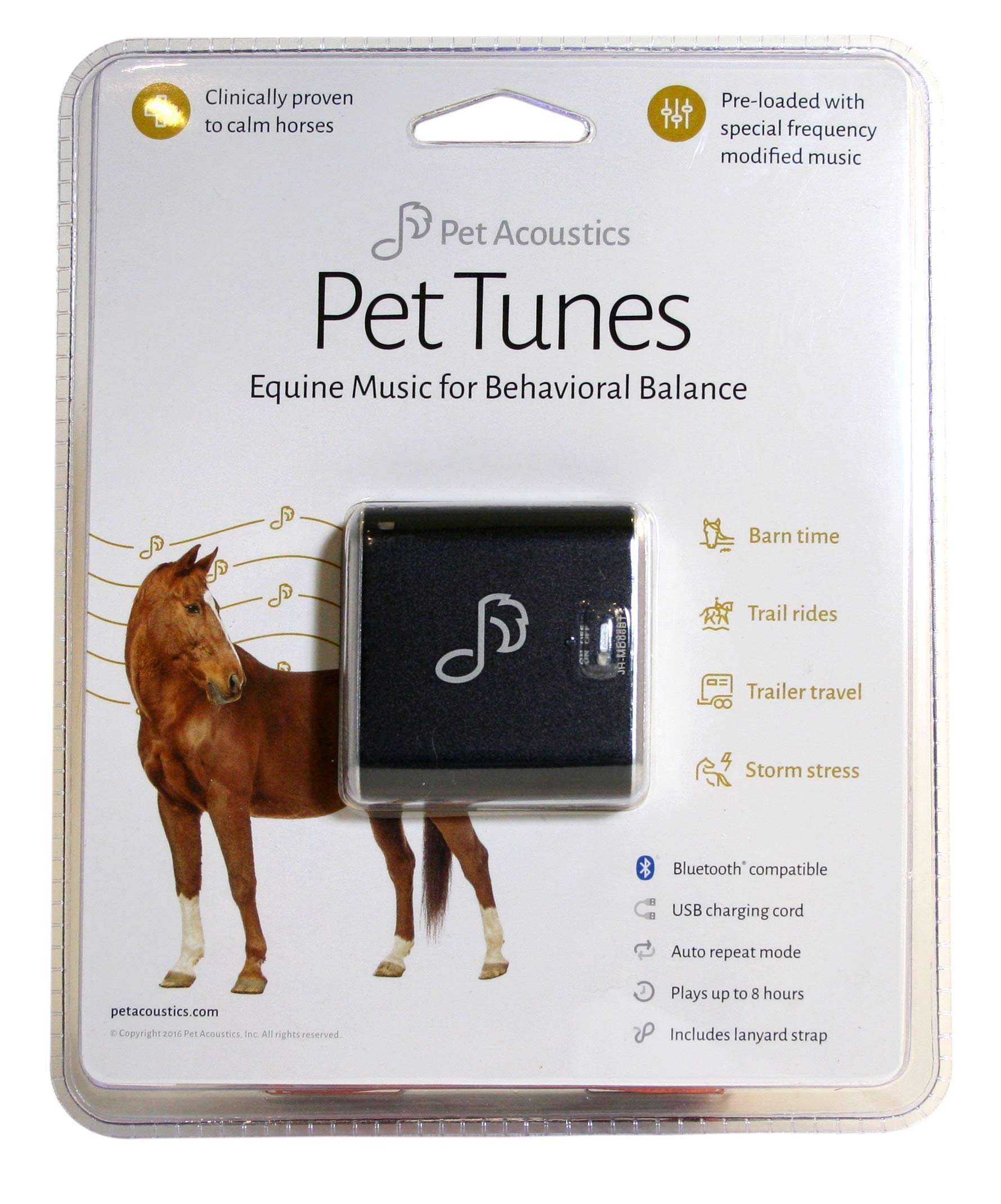 Pet Tunes Bluetooth Speaker Preloaded with Calming Equine Music by Pet Acoustics