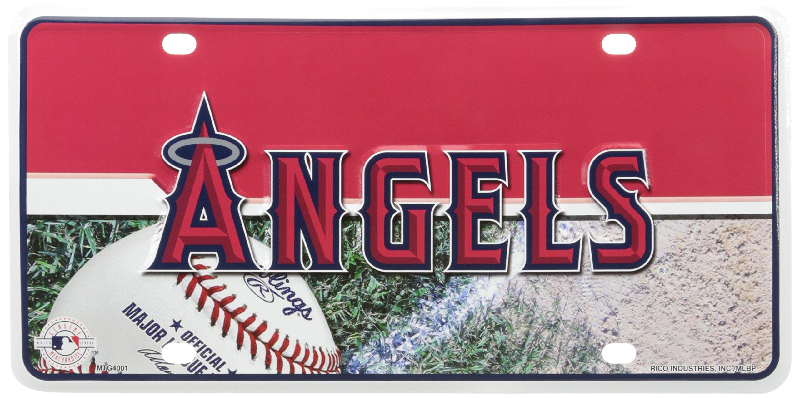 MLB Los Angeles Angels Metal Auto Tag