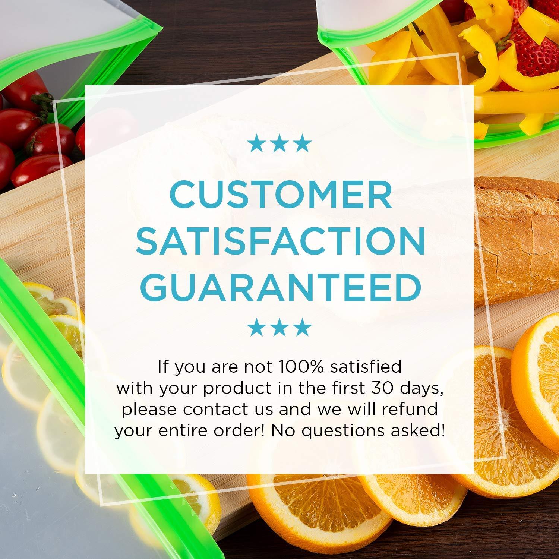 mit Rei/ßverschluss Obst Wiederverwendbare Lebensmittel-Aufbewahrungstaschen extra dick BPA-frei Snacks f/ür Sandwich 12 St/ück Lunch