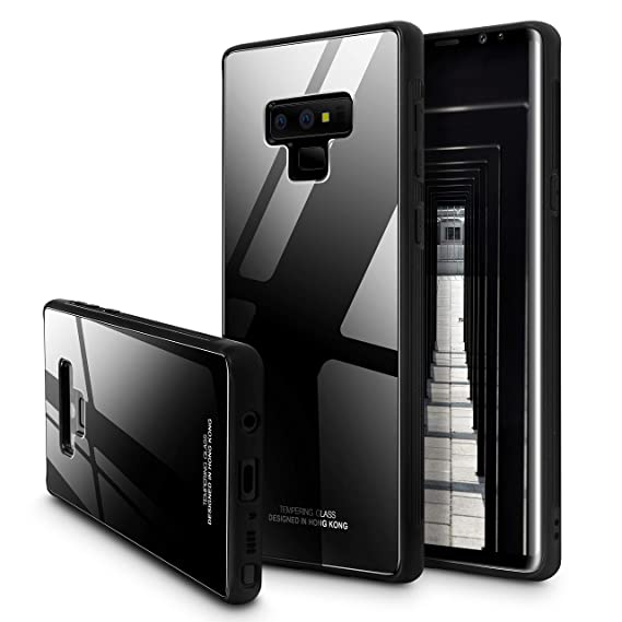 the best attitude 82f82 4eda0 Galaxy Note 9 Case,SQMCase 9H Tempered Glass Back Slim Fit Scratch  Resistant Protective Cover with Soft TPU Bumper Frame for Samsung Galaxy  Note 9 ...