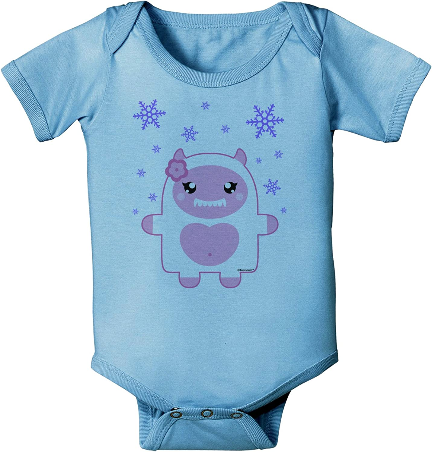 TooLoud Cute Chick with Bow Baby Romper Bodysuit