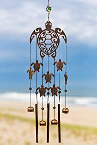 VP Home Tribal Turtles Outdoor Garden Decor Wind Chime (Rustic Copper)
