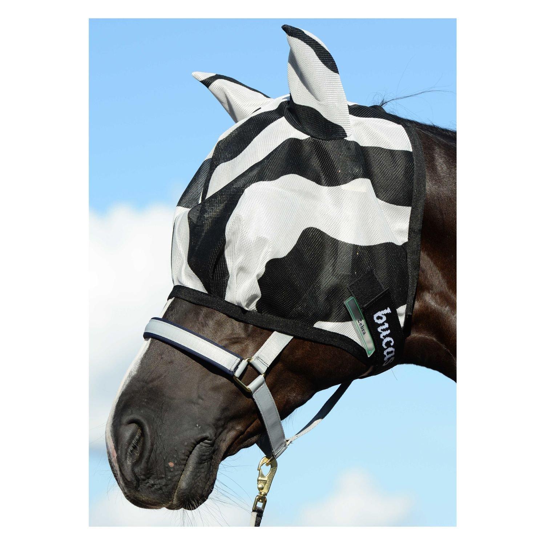 M/áscara anti insectos para caballos Bucas dise/ño de cebra