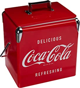 Koolatron Coca-Cola 18 Can Portable Vintage Ice Chest with Bottle Opener (14 Quarts/13 Liters)
