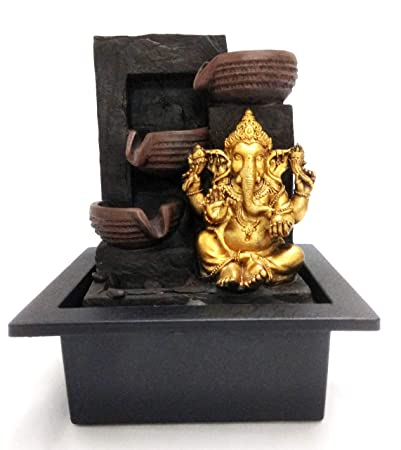 Ethnic Karigari Home Decor Beautiful And Incredible Indoor Table Top Lord Buddha Statue Water Fountain Showpiece