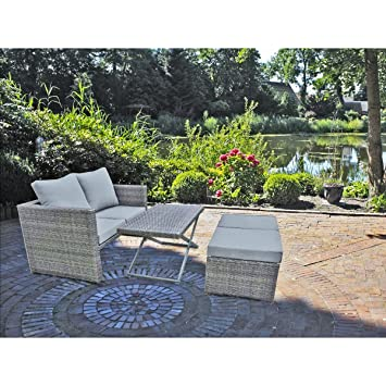 Terrassenmöbel rattan  Amazon.de: 4tlg. Garten Sofa Set Lounge Sitzgruppe Terrasse Möbel ...