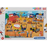 Clementoni - 26990 - Supercolor Puzzle - Men at work - 60 parça