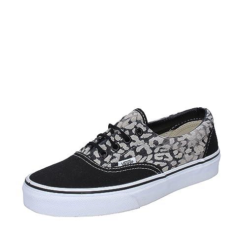 VANS OFF THE WALL - Zapatillas de Tela para Mujer Negro Negro Negro Size   36 EU  Amazon.es  Zapatos y complementos 773be62c1c7