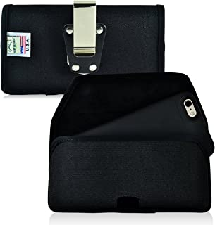 product image for Turtleback Belt Clip Case Made for iPhone 6S+ Plus Juice Pack Air Space Black Holster Nylon Pouch with Heavy Duty Rotating Belt Clip Horizontal Made in USA