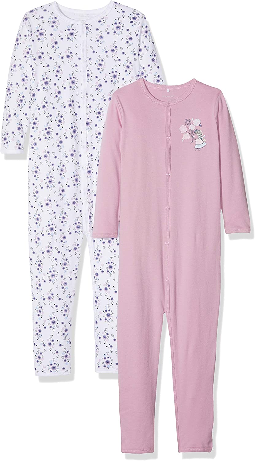 Pack of 2 Name It Baby Girls Sleepsuit