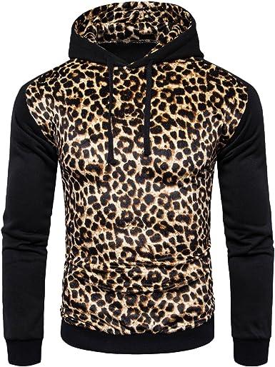 sweat a capuche homme leopard