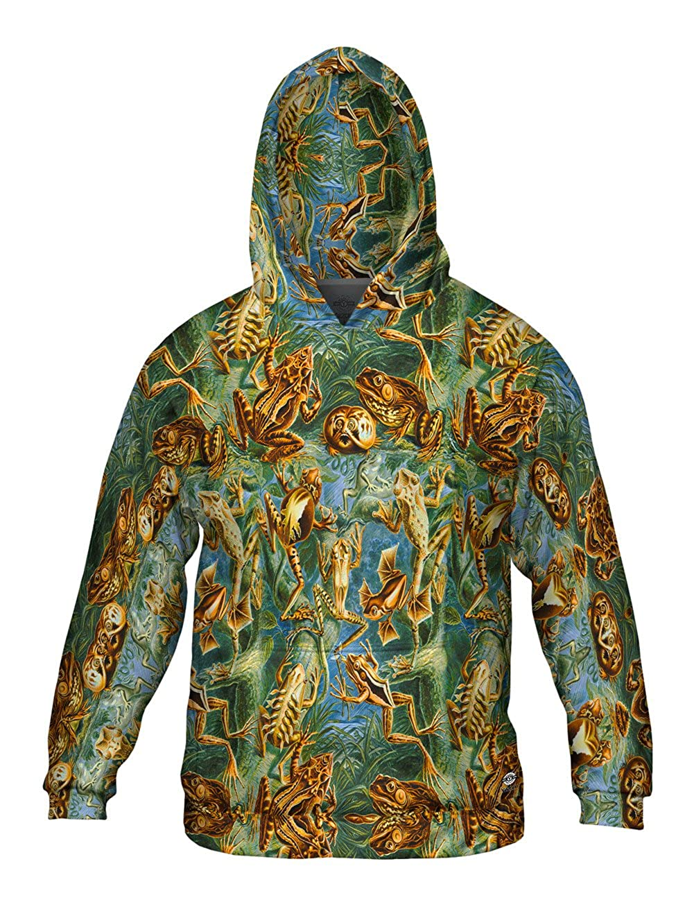 -Allover Print Mens Hoodie 1904 Batrachia Yizzam- Ernst Haeckel