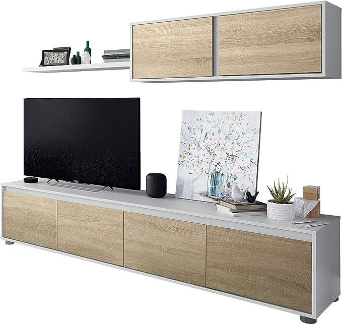 Habitdesign 0F6663A - Mueble de salón Moderno,