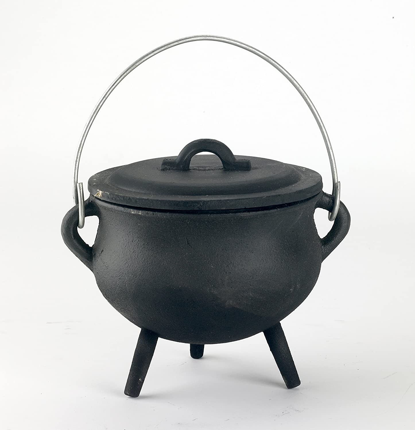 Cast Iron Plain Wiccan/Pagan/Witches Cauldron - Small Black Country Metal Works NG686