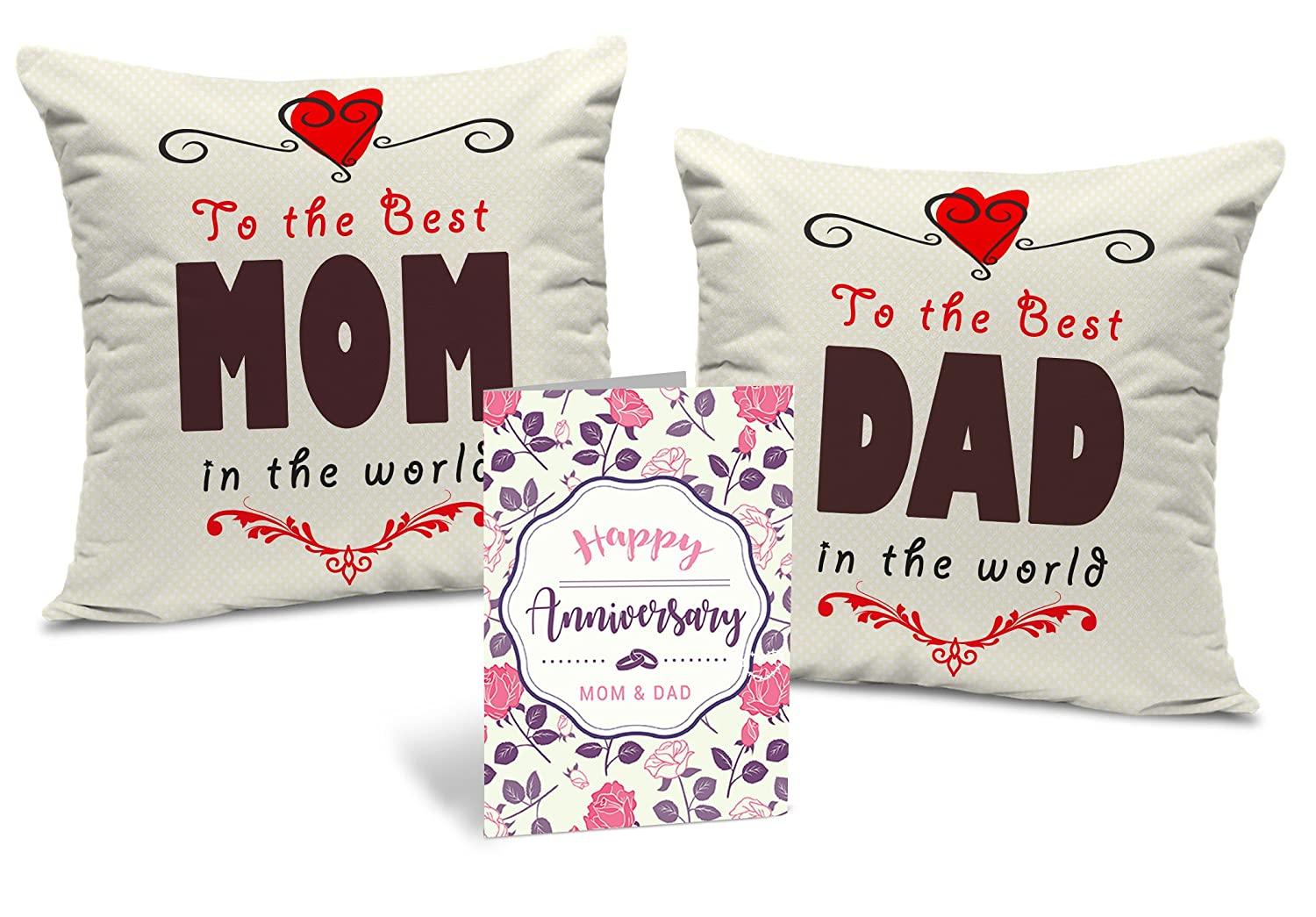 Father And Mother Printed Cushion