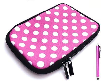 Emartbuy Pack De Hot Pink Stylus Y Los Lunares De Las Rosas/Blanco ...