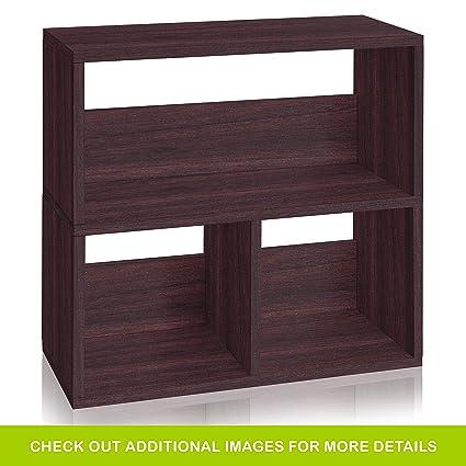 Amazon Com Way Basics Eco Friendly Collins Cubby Bookshelf