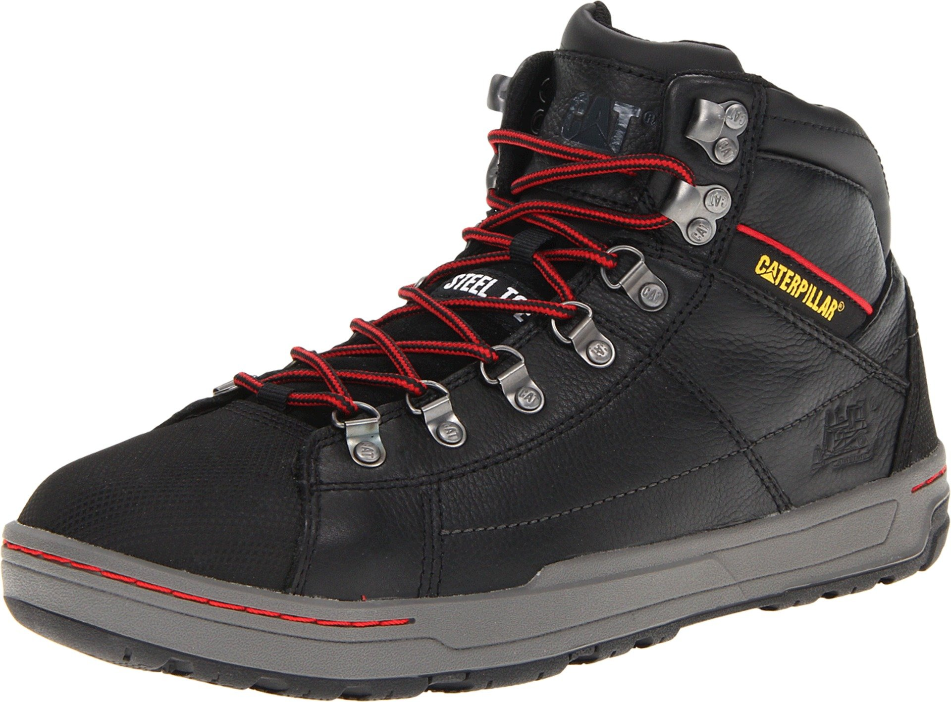 Caterpillar Men's Brode Hi Steel Toe Work Boot,Black,12 M US