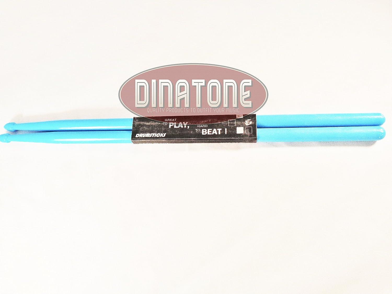 Light Blue 5A Plastic Drum Sticks Lightweight Fitness Exercise Drumsticks 4 oz.