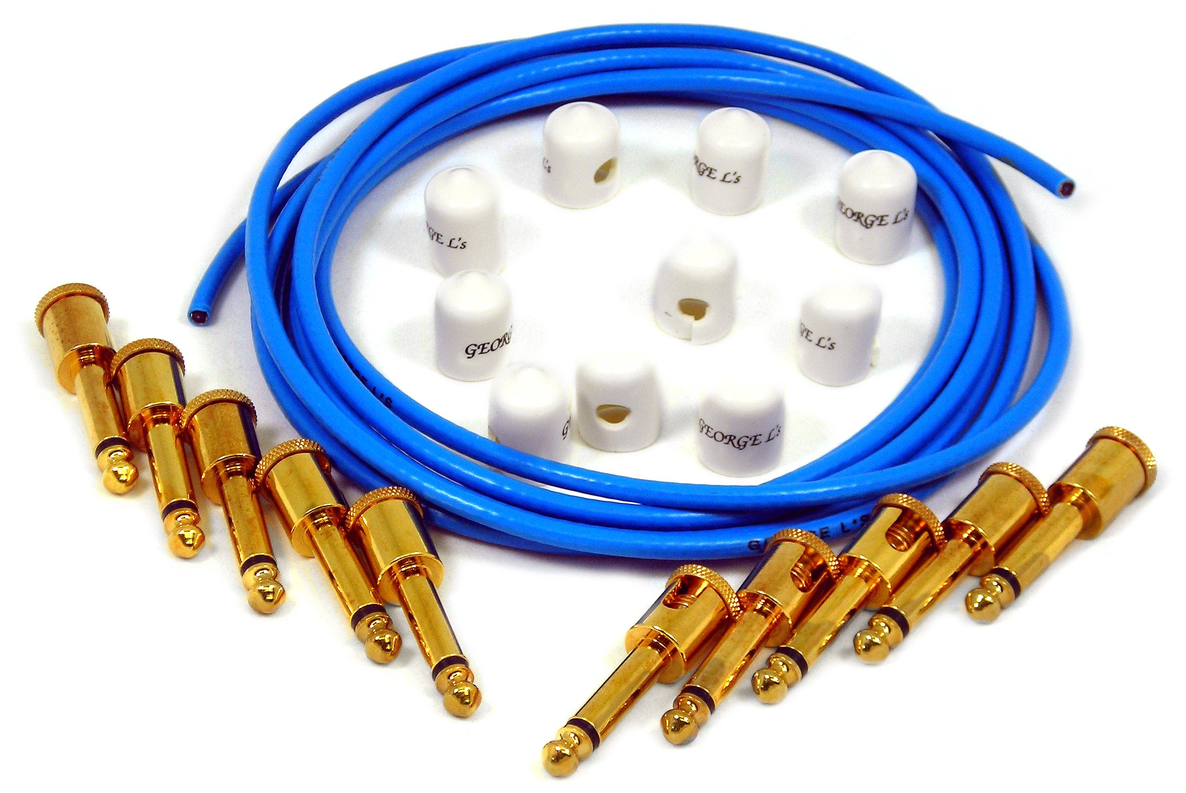 George L's Effects Kit (Blue Cable, Gold Right Angle Plugs)