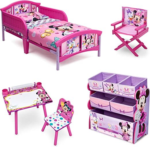 Amazon Com Minnie Mouse Room In A Box With Bonus Chair Kitchen