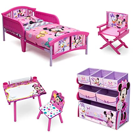 Baby Gear Playpens & Play Yards Toddler Bed Multi Bin Bedroom Set Minnie Mouse Toy Organizer International Ship