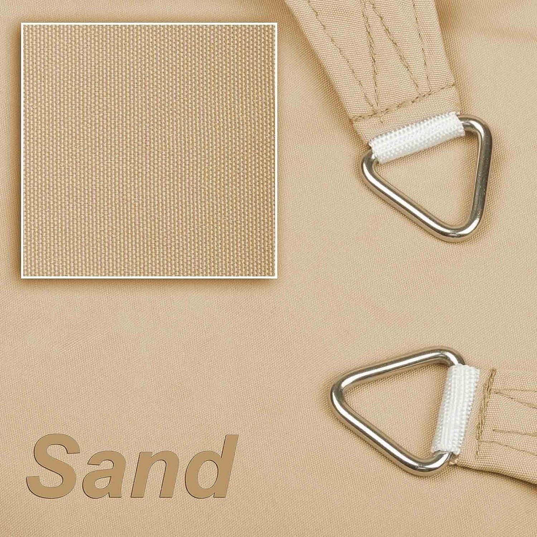 3,0x3,0x4,24 m Sand hanSe/® Marken Sonnensegel 100/% Polyester ca wasserabweisend Dreieck 90/° gleichsch