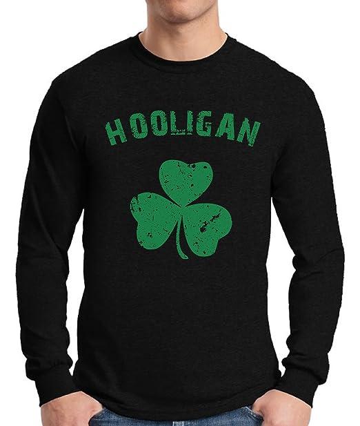 f74be868f Awkward Styles Men's Hooligan Irish Clover St. Paddy's Day Drinking Graphic  Long Sleeve T Shirt