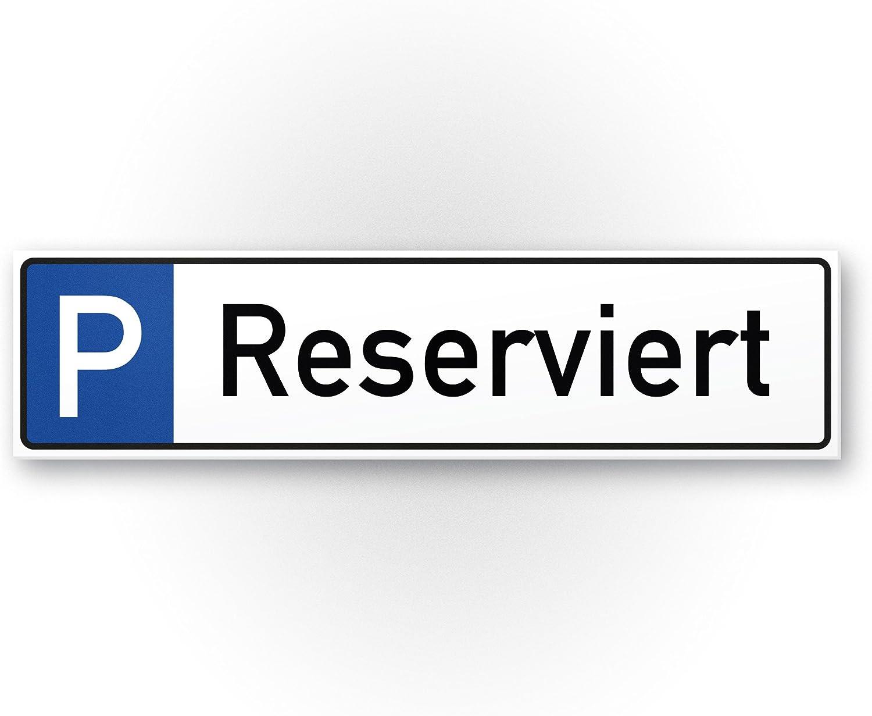 Komma Security Parkplatz Reserviert Kunststoff Schild 40 X 10 Cm Hinweisschild Privatparkplatz Privatgrundstück Parkplatzschild Reserviert Parkplatz Freihalten Vermietet Parkverbot Falschparker Bürobedarf Schreibwaren