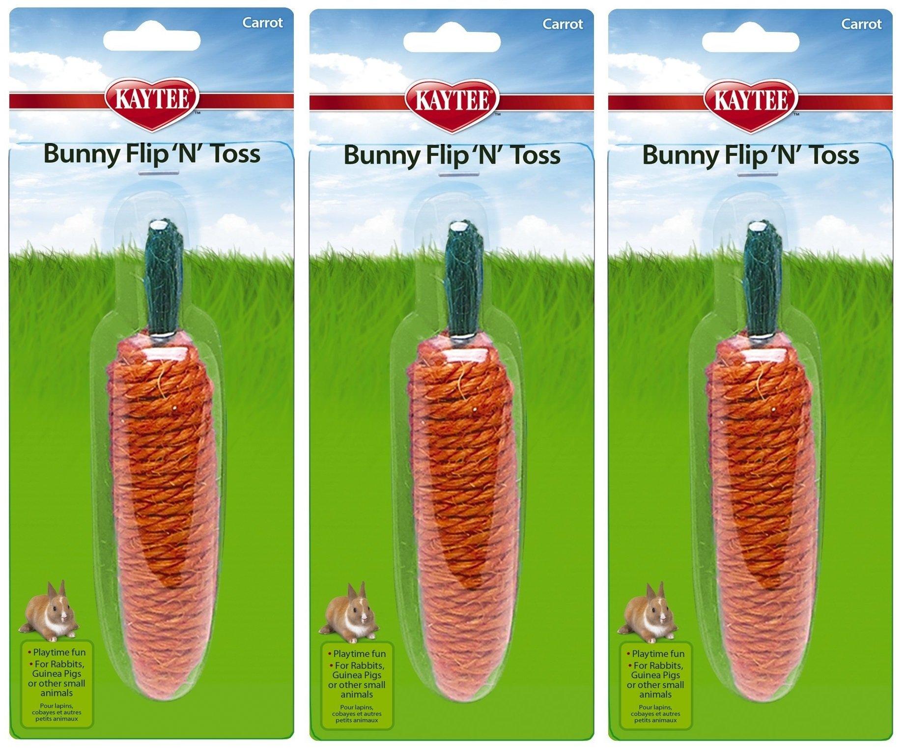 Superpet Bunny Flip N Toss Carrot (Pack of 3) by Kaytee (Image #1)