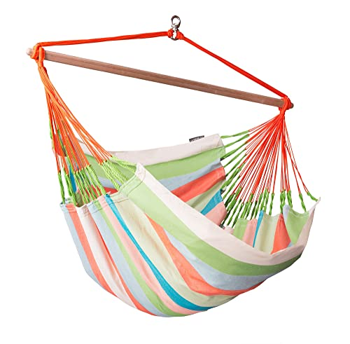 LA SIESTA Domingo Coral – Weather-Resistant Lounger Hammock Chair