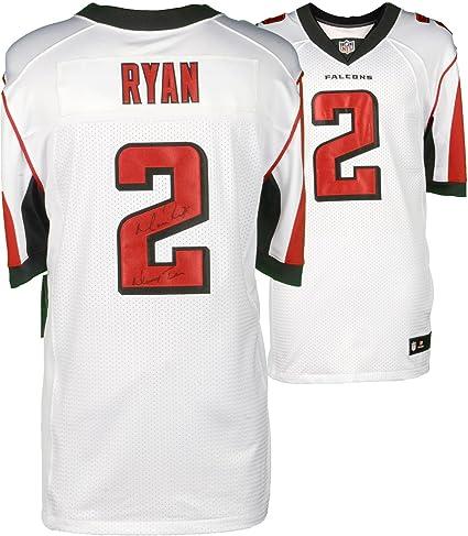 hot sale online 43905 ff732 Matt Ryan Atlanta Falcons Autographed Nike White Elite ...