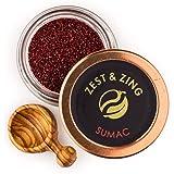 Sumac (Ground), 25g - Premium Spices by ZEST & ZING. Fresher, Convenient, Stackable Spice Jars.